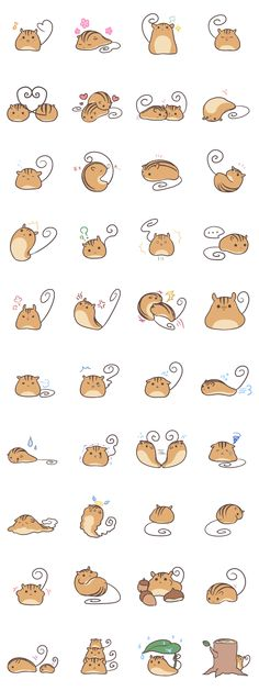 Cute illustrations - #LINE #Sticker - Developer: SouyaTouki || Sticker packet name: Kutarisu