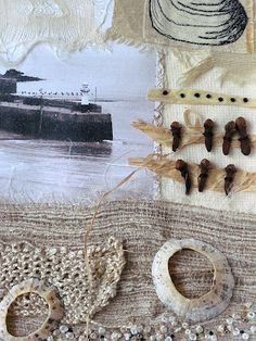 textile artist photography and mixed media - Carolyn Saxby Textile Art St Ives C . textile artist photography and mixed media – Carolyn Saxby Textile Art St Ives Cornwall Textile Fiber Art, Textile Artists, Mixed Media Collage, Collage Art, Carolyn Saxby, Textiles Sketchbook, A Level Textiles, Seaside Art, Creative Textiles