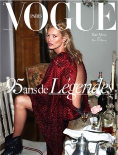 Kate Moss by Mert & Marcus for Vogue Paris October 2015 95th Anniversary Issue cover