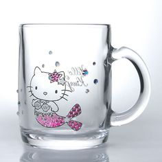*Sanrio Hello Kitty x Crystal Scene Mug Glass Mermaid Swarovski Made in Japan and like OMG! get some yourself some pawtastic adorable cat apparel! Hello Kitty Mug, Hello Kitty Kitchen, Hello Kitty Items, Hello Hello, Mermaid Mugs, Mermaid Glass, Precious Moments, Hello Kitty Collection, All Things Cute