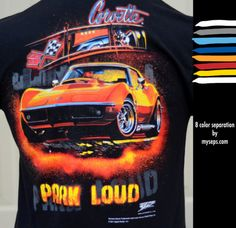 """Corvette """"Park Loud"""" 8 color separation by myseps for Wicked Metal"""