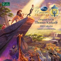 The Disney Dreams Collection By Thomas Kinkade ~ 2013 Calendar, Cozy Blankets And Cross Stitch Kits