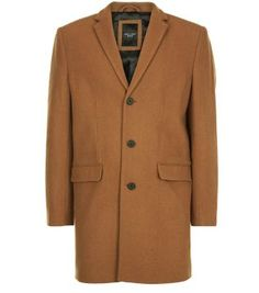 For work or play, our classic Camel Wool Mix Overcoat will ensure you look a cut above. £69.99 #newlook #menswear