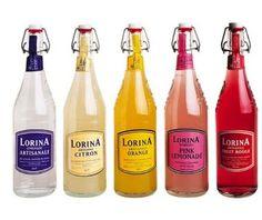 La bouteille de limonade Lorina possède un côté rétro car elle est ...