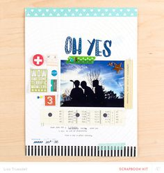 Blog: #NSDSC15 | Challenge 04 - Mix Those Kits with Lisa Truesdell, Keisha Campbell, and April Foster - Scrapbooking Kits, Paper & Supplies, Ideas & More at StudioCalico.com!
