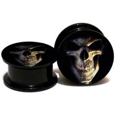 Find More Body Jewelry Information about 2pcs/lot Acrylic 3D Skull Logo Ear Gauge Plugs And Tunnels Stretching Expander 6mm 25mm Screw Fit Plug Body Jwelry Piercing,High Quality gauge plug,China ear gauges plugs Suppliers, Cheap plugs and tunnels from DreamFire Store on Aliexpress.com