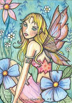 Molly Harrison Happy Garden - fairy art