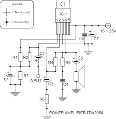 Circuit Diagram TDA2050 Power Amplifier
