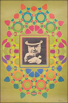 W. C. Fields   Peter Max 1967