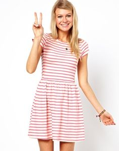 ASOS Skater Dress In Striped Nepi. I love this dress. It looks so comfortable and fun.