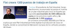 Fiat creara 1200 puestos de trabajo en España