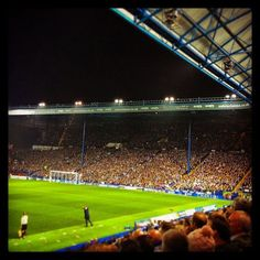 Stolen from the Twitter but what a stand when it's full. #swfc #thekop #blueandwhitekop #sheffield