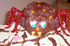 Halloween cake Close up of spider