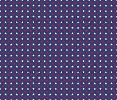 USA Flag Red and White Stars on Flag Blue fabric by paper_and_frill on Spoonflower - custom fabric Pattern Images, Paper Beads, Usa Flag, Blue Fabric, Slipcovers, Custom Fabric, No Frills, Spoonflower, Red And White