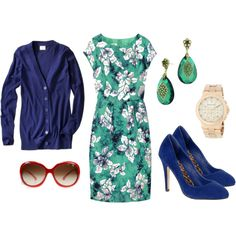 Green & Navy Blue, created by kateanfinson.polyvore.com