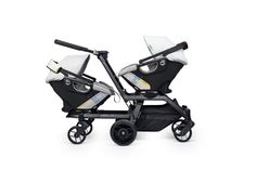 Double Helix Stroller Frame - Orbit Baby // Expecting Twins?  Orbit Baby's convertible double stroller: stroll with all Orbit Baby seats (sold separately) with siblings, twins, and growing families.