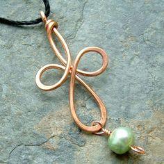 celtic cross pendants   Celtic Cross Pendant with Pearl   ArtKat - Jewelry on ArtFire