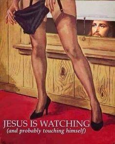 Provocative Pulp Fiction at it's finest! Religious Humor, Atheist Humor, Humor Satirico, Dry Humor, Pulp Fiction Art, Pulp Art, Fiction Books, Les Religions, Pulp Magazine