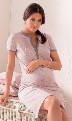 Cute for the hospital! Elin Maternity Nursing Nightgown