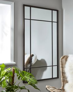 With a gently distressed black iron finish and twenty mirrored panels, our bold industrial style window mirror will make a statement in your living space. Inspired by our bestselling window mirror collection, it encapsulates factory chic with an elegant Hall Mirrors, Tall Wall Mirrors, Huge Mirror, Mirror Panels, Window Mirror, Diy Mirror, Brass Mirror, Beveled Mirror, Floor Mirror