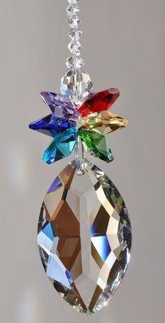 Large Fancy Crystal Sun-catcher Diamond Chakra Pendant Prism Element, Decoration