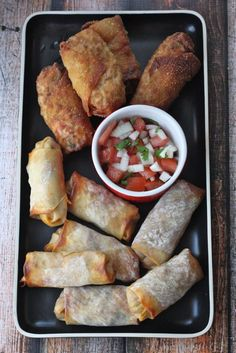 You want twisted tacos? You've got it with the zesty seasonings in this delicious platter of taco egg roll.