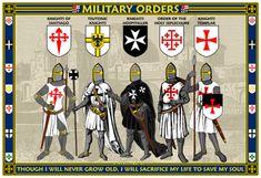 Medieval Warlords Poster by williammarshalstore on DeviantArt Knights Hospitaller, Knights Templar, Knight Orders, 4 Kingdoms, Kingdom Of Jerusalem, Crusader Knight, Military Orders, Brothers In Arms, Knight Art