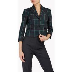 Dsquared2 Blazer (€860) ❤ liked on Polyvore featuring outerwear, jackets, blazers, dark green, blazer jacket, one button jacket, wool blazer, dsquared2 and dark green jacket