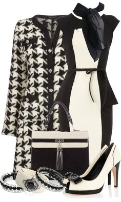 """""""Classic Peplum Dress"""" by stylesbyjoey ❤ liked on Polyvore"""