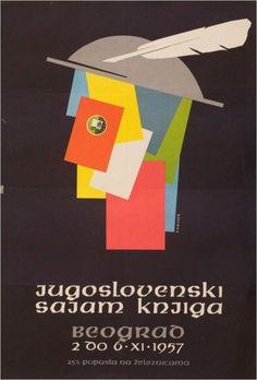 Poster for Yugoslav Book Fair, 1957