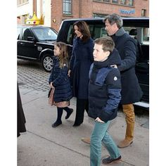 The crown family of Denmark attended church service on March 24th 2016