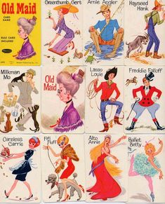 """Old Maid"" still have a vintage set like this. Great memories with my family My Childhood Memories, Childhood Toys, Great Memories, 1970s Childhood, School Memories, School Days, Vintage Cartoon, Retro Toys, Vintage Toys"