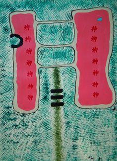 """Saatchi Online Artist ABBA ARTIST; Painting, """"MOLOK """" #art"""
