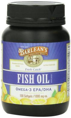 Barleans Organic Oils Fresh Catch Fish Oil 100 Softgels 1000 mg Orange * Continue to the product at the image link.