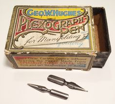 Geo.W.Hughes Plexograph nibs Calligraphy Tools, Dip Pen, Vintage Type, Copics, Pen Holders, Fountain Pens, Geo, Ephemera, Paper