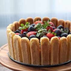 Cassis Charlotte with mixed berries