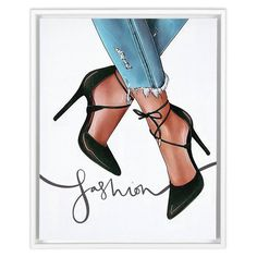 Fashion Artwork, Fashion Prints, Fashion Posters, Fashion Illustration Shoes, Shoe Art, Fashion Sketches, Girly, Print Jeans, Etsy