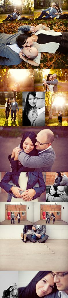 Great photos but favorites are the very bottom two. Also the one with his arms around her neck from behind. The shot was taken higher up which is always more flattering.