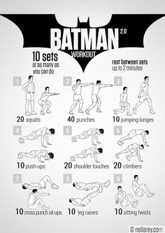 Neila Rey Batman Workout Program With 9 Sets Of Exercises