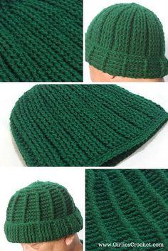 Free Crochet Pattern: Jojo Reversible Beanie, hat for men