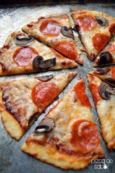 Masa de pizza de 3 ingredientes – La pizza más fácil de tu vida (30 minutos o menos) www.pizcadesabor.com