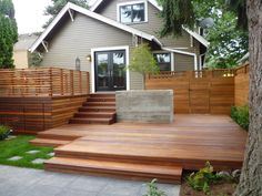 Having a house and no deck doesn't really make sense. Decks are awesome and have more advantages than we can count. There's a lot to love about a deck, a Cozy Backyard, Backyard Privacy, Backyard Ideas, Fence Ideas, Railing Ideas, Patio Ideas, Landscaping Ideas, Small Backyard Decks, Backyard House