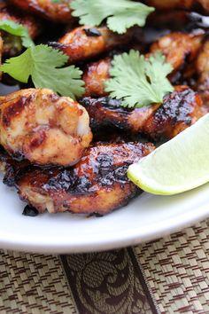 Honey & Lime Glazed Thai Chicken Wings