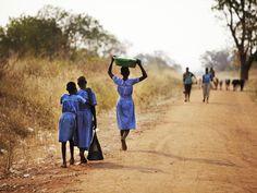 schoolgirls in Uganda, Africa