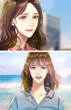 너에게만 유혹적인 -로맨스 : 네이버 블로그 Broken Wings, Anime Poses, Anime Couples, Webtoon, Pretty Girls, Anime Characters, Character Art, Anime Art, Best Friends