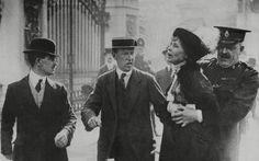 Emmeline Pankhurst, leader of the suffragette movement, shocked society with her demands that women should have the right the vote. Pankhurst's violent tactics – including arson and window smashing – were deeply controversial even within her own movement, and she was imprisoned several times.