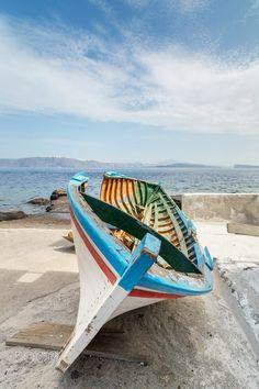 Boat in Ammoudi, Oia, Santorini, Greece