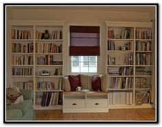 Built In Shelves With Window Seat