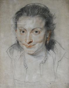 Drawing of Isabella Brant by Peter Paul Rubens - Peter Paul Rubens/1620–1622 - Wikimedia Commons