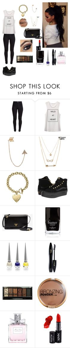 """""""Sans titre #51"""" by rosemie ❤ liked on Polyvore featuring New Look, Bee Goddess, Aéropostale, Michael Kors, Vans, Prada, Butter London, Christian Louboutin, Lancôme and Boohoo"""